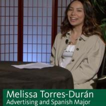 Melissa Torres-Duran on set